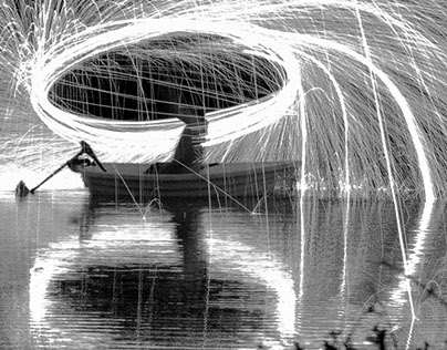 Sparks Spinning Splashing
