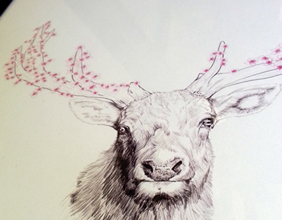 Blooming Deer Birthday