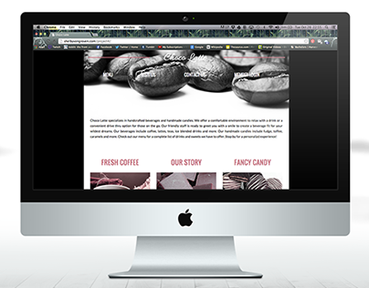 Choco Latte Web Page Redesign