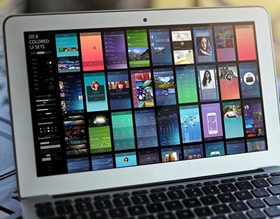 iOS 8 Colored UI Sets