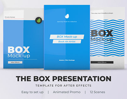 Box Product Pack Mockup - Box Software Mock-up Cover Te