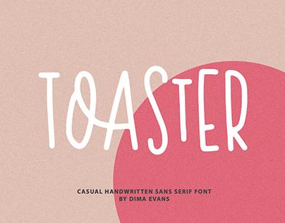 Toaster Sans/ Casual handwritten font
