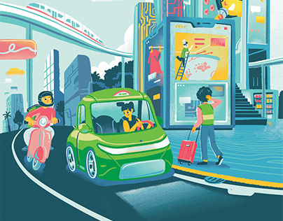 People and The Future | Editorial Illustration