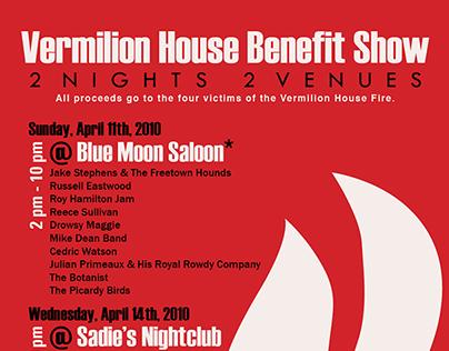 2010. Vermilion House Benefit Show Poster.