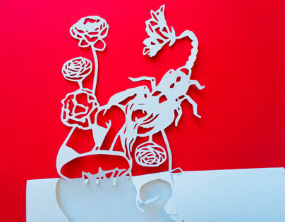 Illustration turned papercut