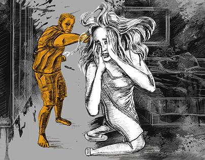 Domestic violence illustrations