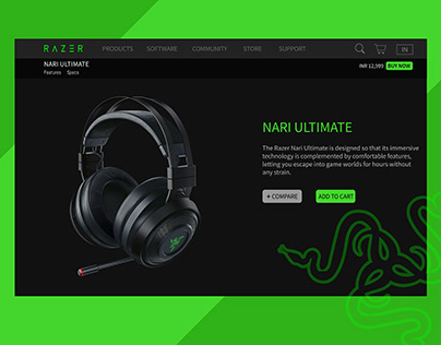 Razer Website landing page Redesign