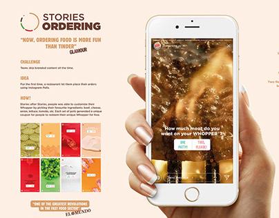 Burger King / Stories Ordering / Digital Activation