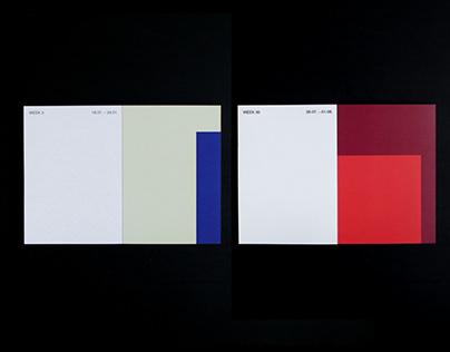 Color Combination Calendar 2021