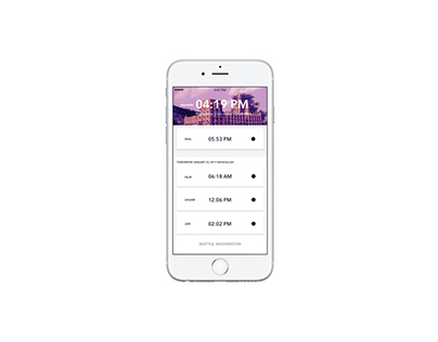 Pillar App — Islamic Prayer Times App Concept