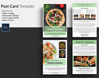 Food Postcard Flyer Template