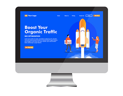 Landing Page Template for SEO Service Business