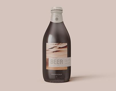 Beer Bottle Mockup Free