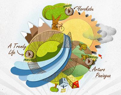 Recycle website design  |  Cambia con SIGRE #webdesign