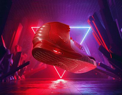 Nike Air Yeeze 2 - October Red