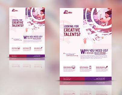 Free PSD Creative agency Flyer