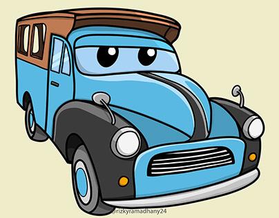 Ilustrasi Kendaraan Angkutan Umum