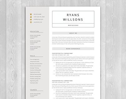 a4, clean cv, clean resume, cover letter, creative cv,