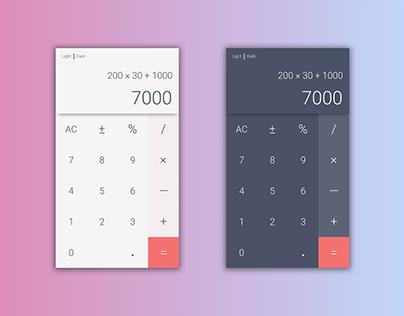 Daily UI #004 - Calculator (Dual Tone)