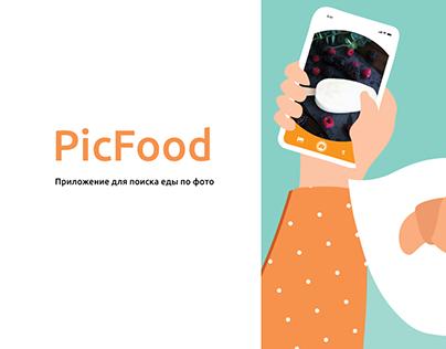 PicFood приложение поиска еды по фото