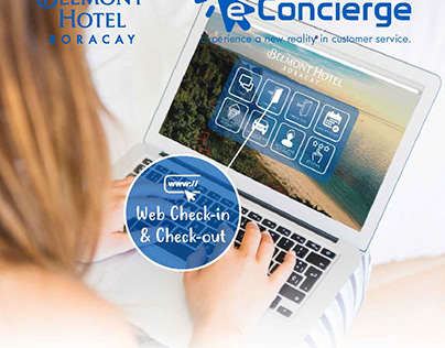 BELMONT BORACAY E-CONCEIRGE LOGO AND BANNER DESIGNS