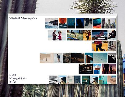 Vishal Marapon portfolio website