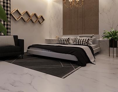 Minimlist Bed Room Interior Design By Wahab Ahmad