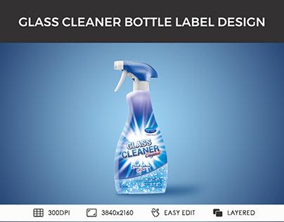 glass cleaner spray bottle printable label design