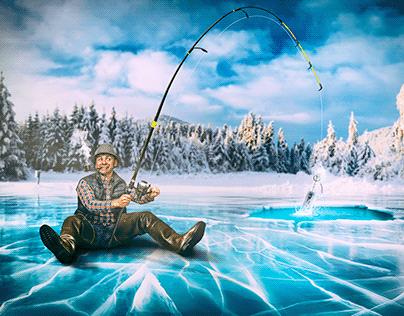 Vodka fisherman