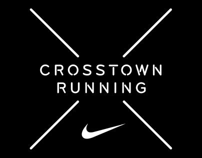 Nike Crosstown Running social media feed wall