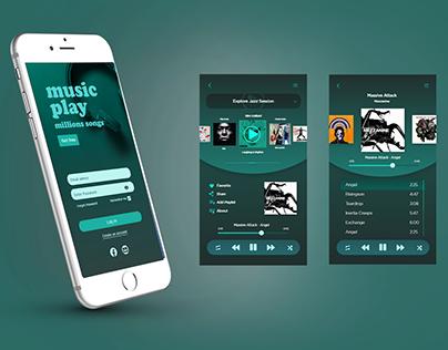 Music App UI Design