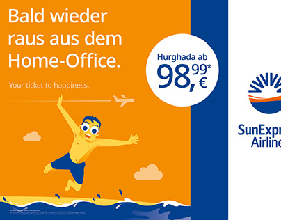"""SunExpress   Imagekampagne """"Your ticket to happiness"""""""