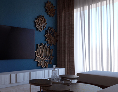 Lotus Inspired Living Space