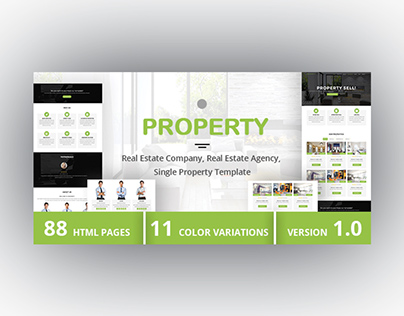 PROPERTY - Real Estate Company, Agency Template