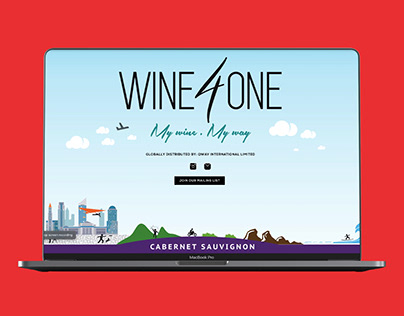 Wine 4 One | Landing Page