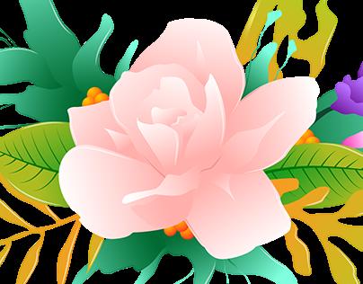 Jasmine Vector Illustration & logo