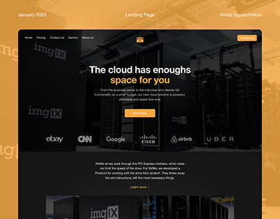 Landing page for data-centers company