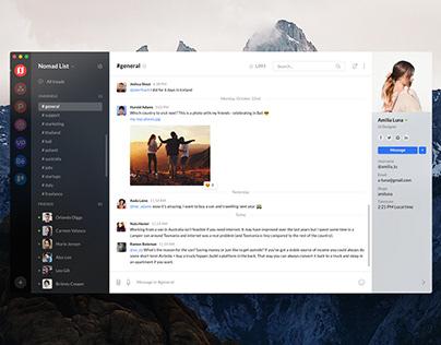 Freebie Chat Desktop App macOS (PS, Sketch, XD, Figma)