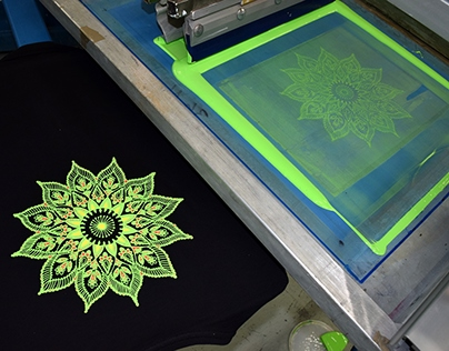 Puff screen printing Monday blues