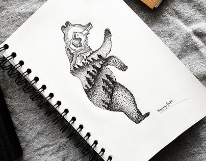 Dotwork - Bear