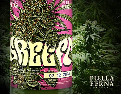 Beer label «Greefo» for Puella Eterna Brewery