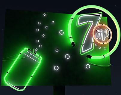 Animation néon 7UP