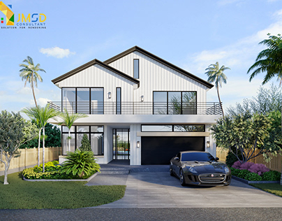 Home Rendering Landscape Design Fort Lauderdale Florida