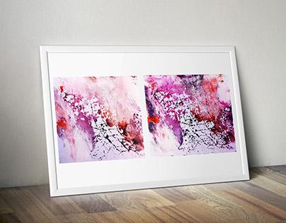 Art project . INK Digital Printing.