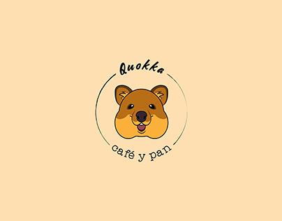 Logo cafetería Quokka Café y pan