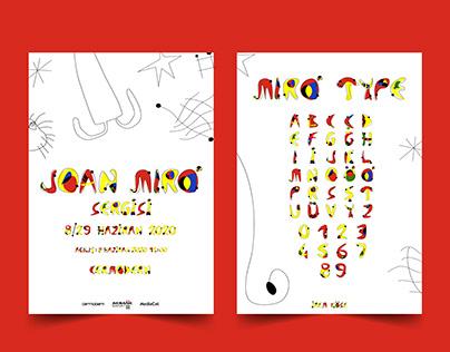 Joan Miro Exhibition Poster and Miro Type Design