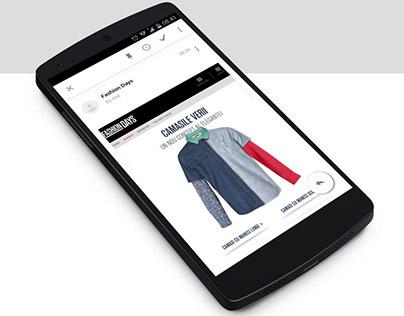 FashionDays Newsletter Design