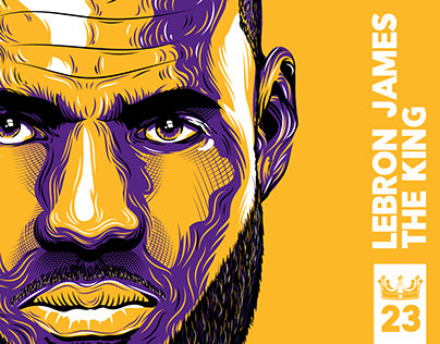 Lebron James The King - Vector Illustration