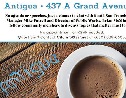 City of South San Francisco | Coffee with City Manager