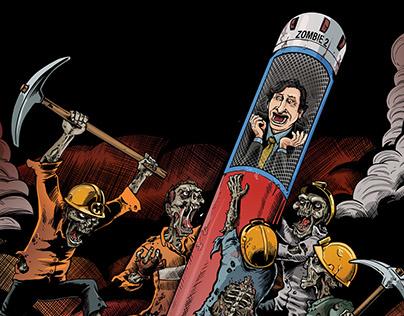 Zombies en la moneda comic